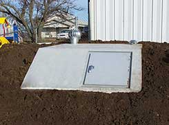Under Ground Slope Front Concrete